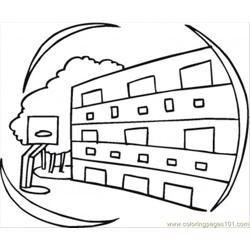 Apartments coloring page