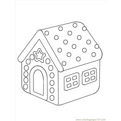 Aw A Gingerbread House Step 4 Free Coloring Page for Kids