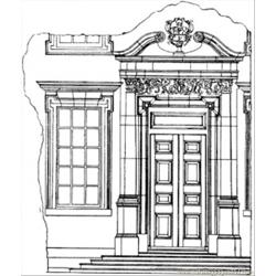 Big English House coloring page