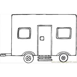 Big Trailer Free Coloring Page for Kids