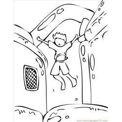 Bouncy House Ink coloring page