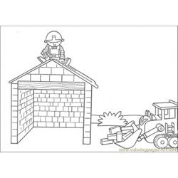 Build The House Coloring Page