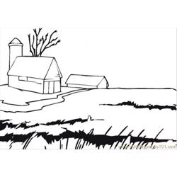 Farmhouse Free Coloring Page for Kids