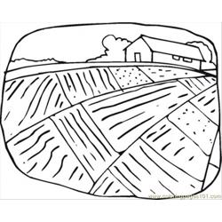 Farmhouse And The Field Free Coloring Page for Kids