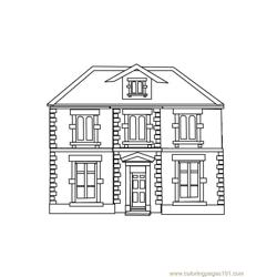 Guest house Free Coloring Page for Kids