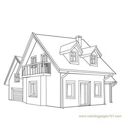 Guest house style Free Coloring Page for Kids