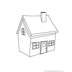 Small home Free Coloring Page for Kids