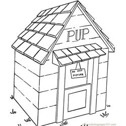 Pup house Free Coloring Page for Kids