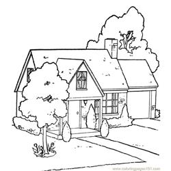 Garden house Free Coloring Page for Kids