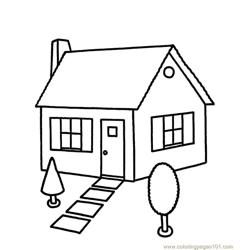 New house 1 Free Coloring Page for Kids