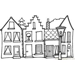 Home view Free Coloring Page for Kids