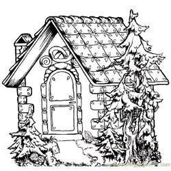 Book style home Free Coloring Page for Kids
