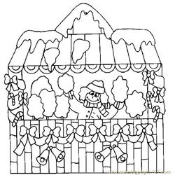 Christmas house Free Coloring Page for Kids