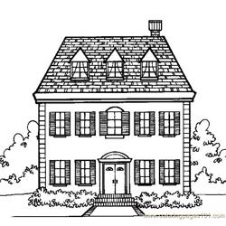 Cottage home Free Coloring Page for Kids