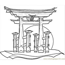 Japanese House Coloring Page