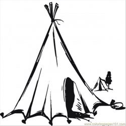 Nomads Tent Free Coloring Page for Kids