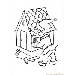 On A Doll House Coloring Page