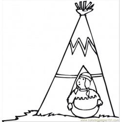 The Owner Of Wigwam Free Coloring Page for Kids