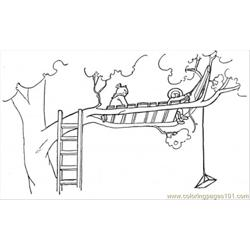 Treehose Free Coloring Page for Kids