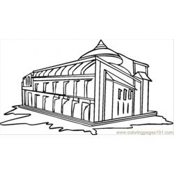 Villa Free Coloring Page for Kids