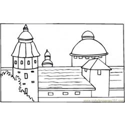 Villa In South Of Spain Free Coloring Page for Kids