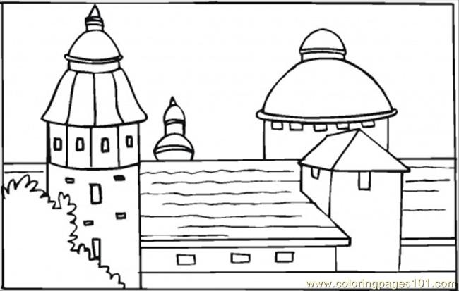 Villa In South Of Spain Coloring Page Free Houses Coloring Pages