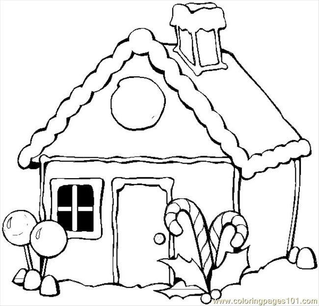 Winter House Coloring Page - Free Houses Coloring Pages ...