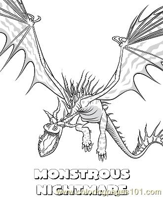 Home Coloring Pages Cartoon Movies How To Train Your Dragon Monstrous Nightmare Printable Page