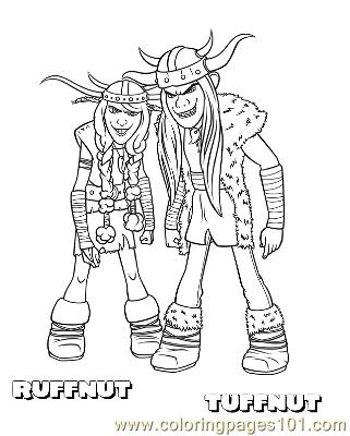 Ruffnut Tuffnut Coloring Page Free How To Train Your