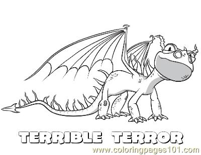 Home Coloring Pages Cartoon Movies How To Train Your Dragon Terrible Terror Printable Page