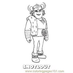 Snotlout coloring page
