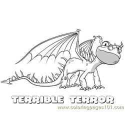 Terrible Terror Free Coloring Page for Kids