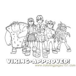 Viking Group Free Coloring Page for Kids