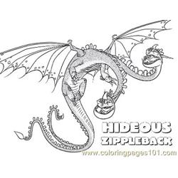 Zippleback Free Coloring Page for Kids