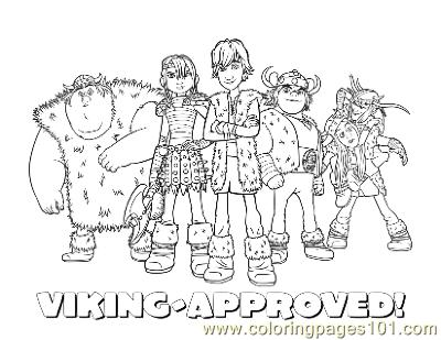 Viking Group Coloring Page Free