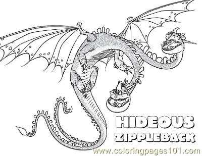 Zippleback Coloring Page Free
