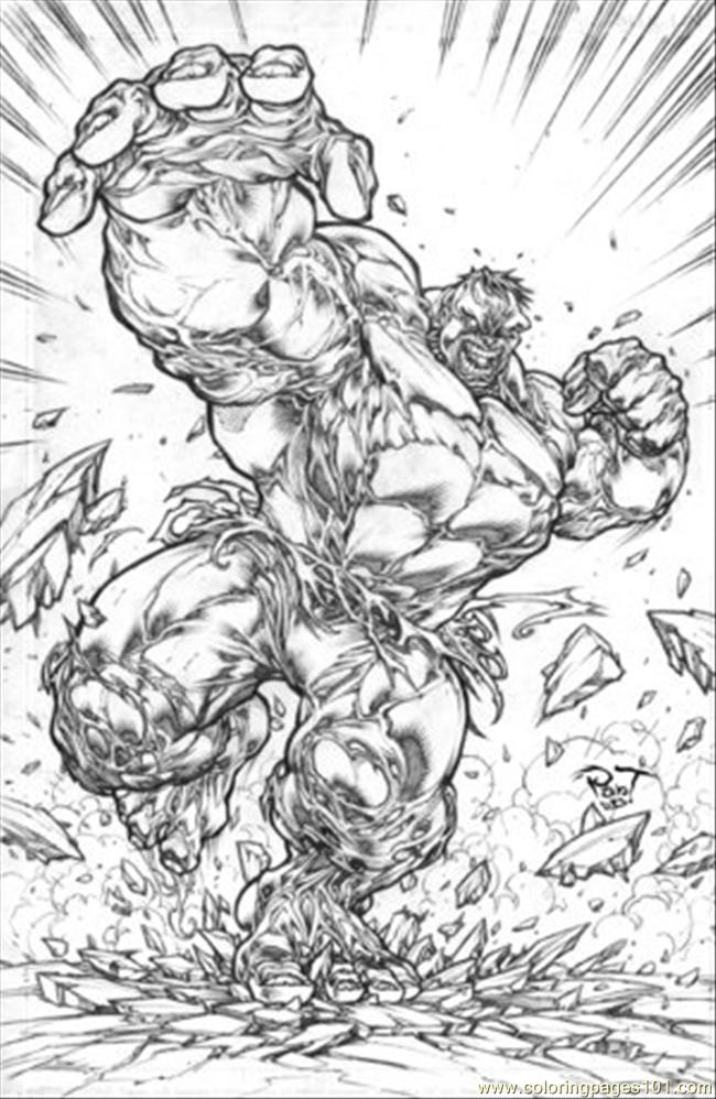 Hulk 2 Furious By Pant Coloring Page