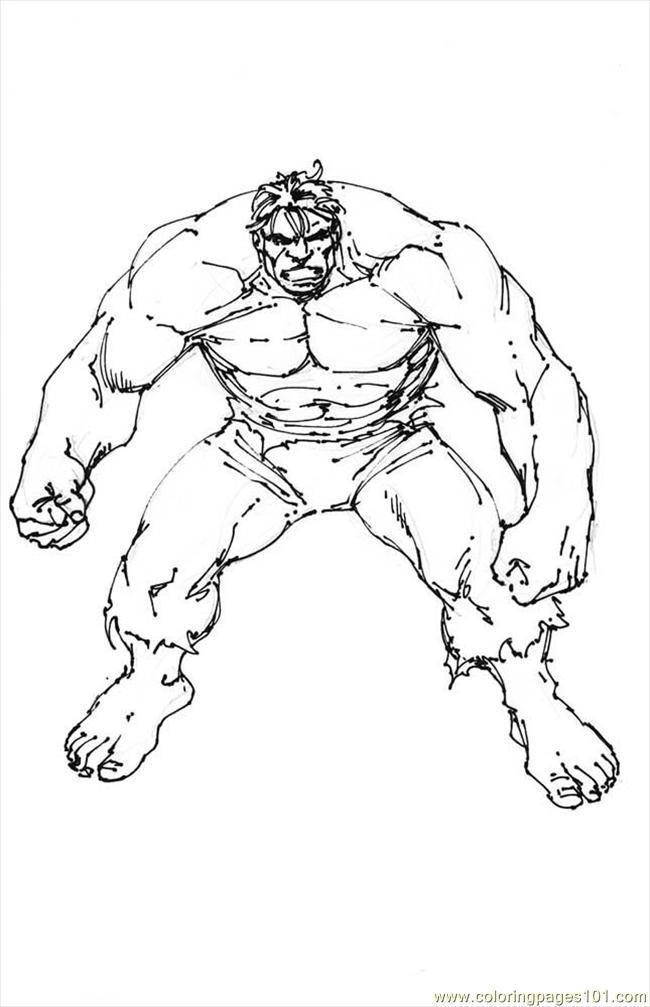 Hulk Frank Coloring Page
