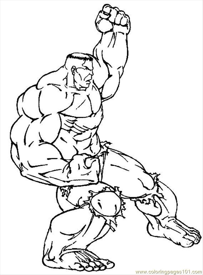 Hulk Coloring Page Free Hulk Coloring Pages ColoringPages101com