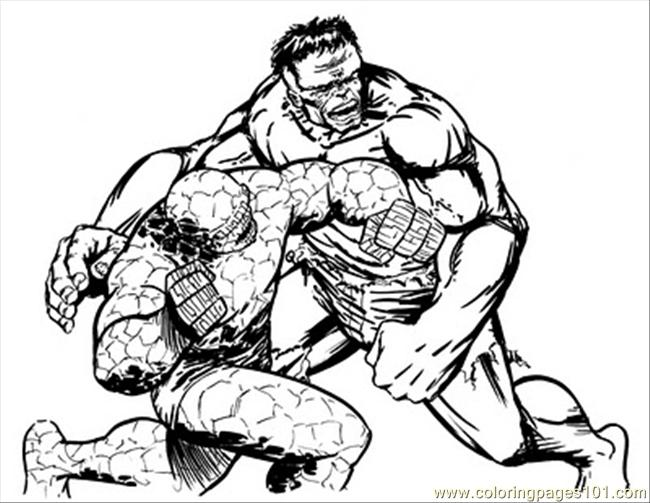 Thing Hulk1lores Coloring Page
