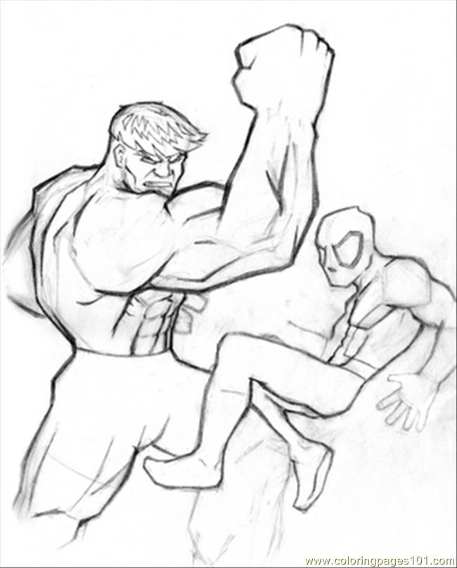 Hulk Spidey Coloring Page