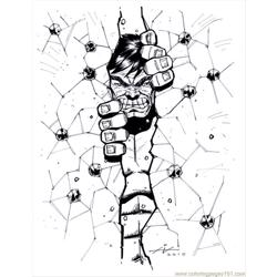 Hulk1 1 1 Free Coloring Page for Kids