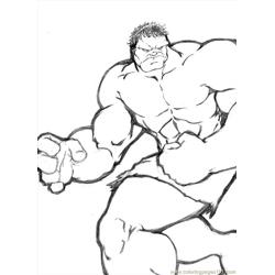 Hulk12 Free Coloring Page for Kids