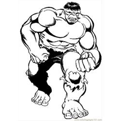 Hulk 2 Free Coloring Page for Kids