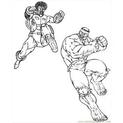 Hulk Fight Free Coloring Page for Kids