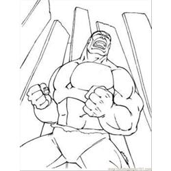 Incredible Hulk Coloring Page Free Coloring Page for Kids