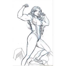 She Hulk By Wieringo Free Coloring Page for Kids