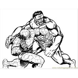 Thing Hulk1lores Free Coloring Page for Kids