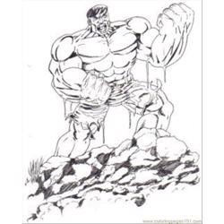 Hulk15 Free Coloring Page for Kids