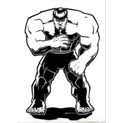 Hulk18 Free Coloring Page for Kids